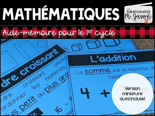 Maths: Tableaux d'ancrage //1er cycle
