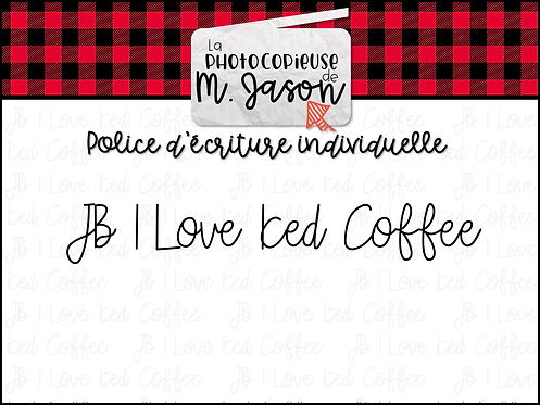 Polices JB // JB I Love Iced Coffee