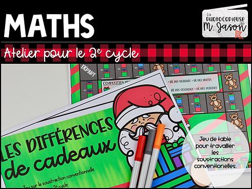 Atelier maths: Les différences de cadeaux //2e cycle