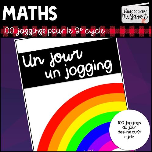Maths: Un jour, un jogging - 2e cycle