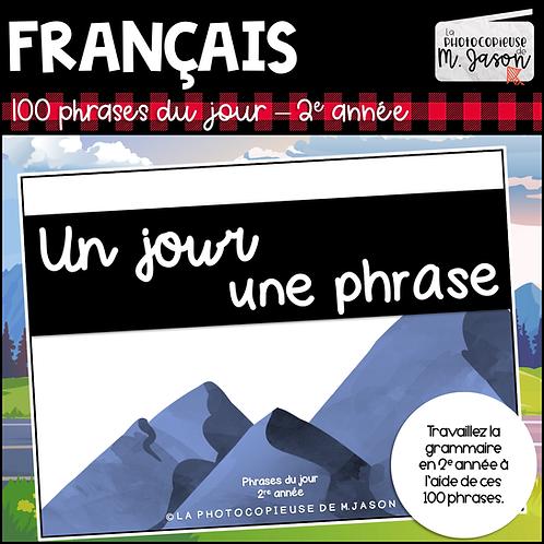 Français: Un jour, une phrase - 2e année