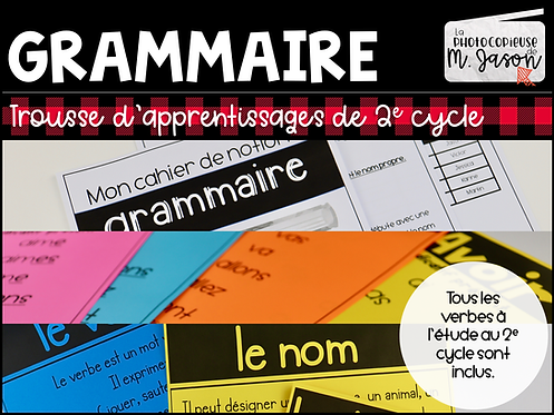 Trousse de grammaire //2e cycle