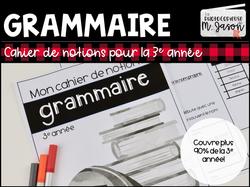 Grammaire: Cahier de notions