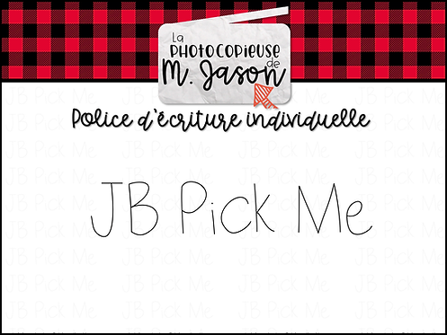 Polices JB // JB Pick Me