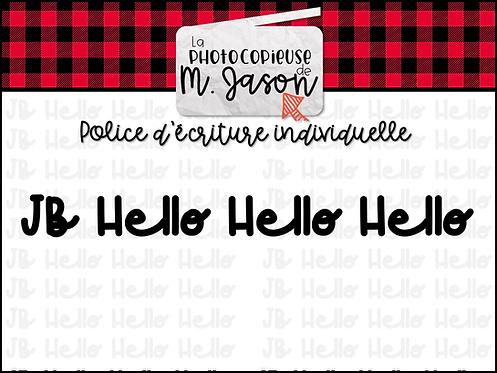 Polices JB // JB Hello Hello Hello