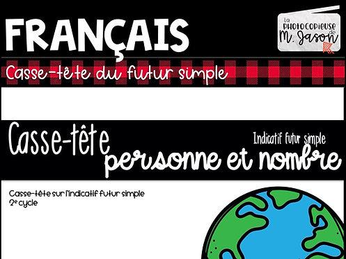 Atelier français: Casse-tête futur simple //2e cycle