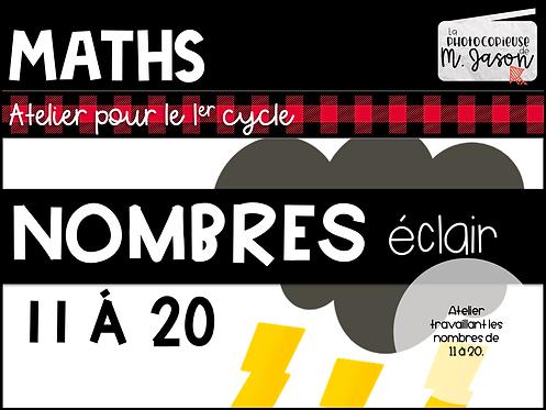 Atelier maths: Nombres éclairs 11 à 20 // 1re année
