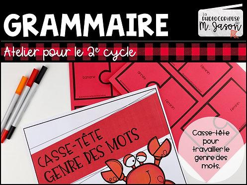 Atelier français: Casse-tête genre // 2e cycle
