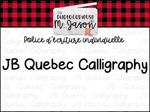 Polices JB // JB Quebec Calligraphy