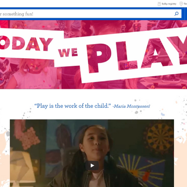 "Landing Page Content: ""Today We Play"""