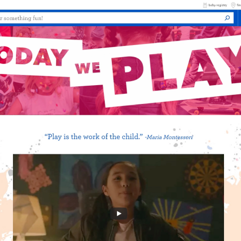 """Landing Page Content: """"Today We Play"""""""