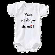 body-bebe-manches-courtes-papa-est-dingu