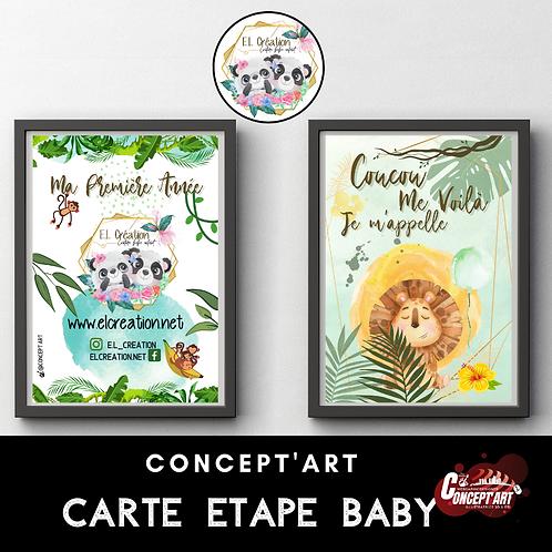CARTE ETAPE BABY 10*15