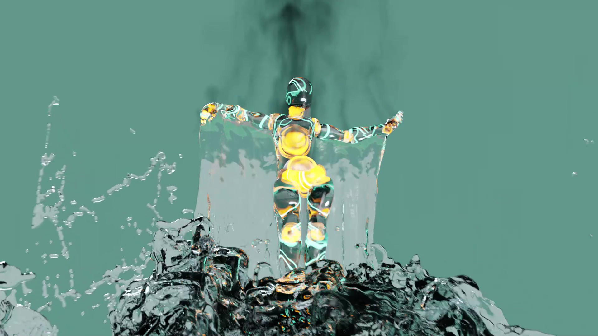 Dancing Fluid Simulation