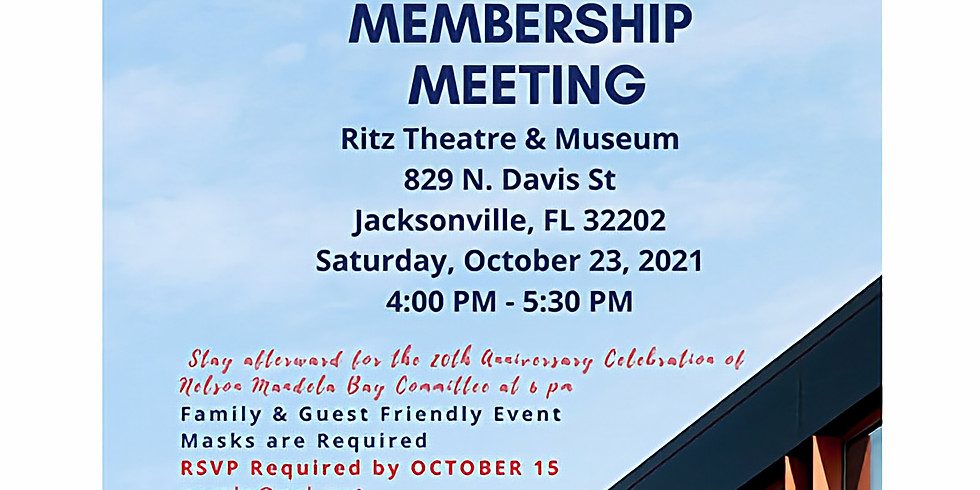 JSCA's 2021 Annual Membership Meeting on 10-23-2021