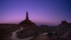 Valley of the Gods at twilight