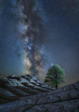 White rock Milky Way
