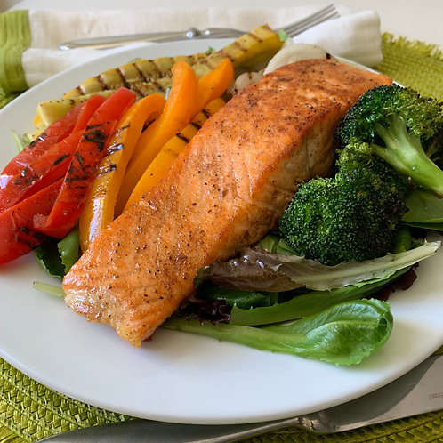 Salmon with Roasted Vegetables (12/24)