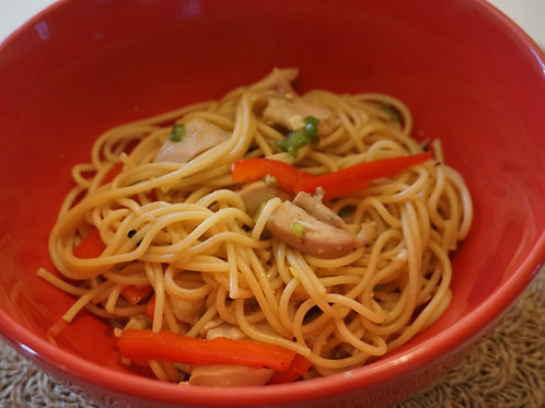 Chicken with Noodles and Ginger Dressing (Feb. 17)