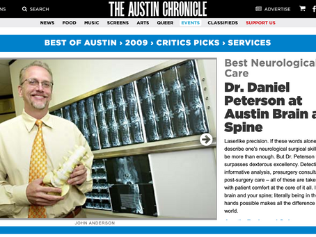 Austin Chronicle Critics Pick for Best Neurological Care