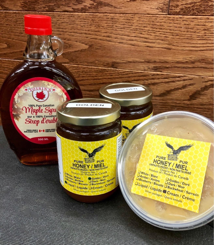 Honey in liquid & cream form