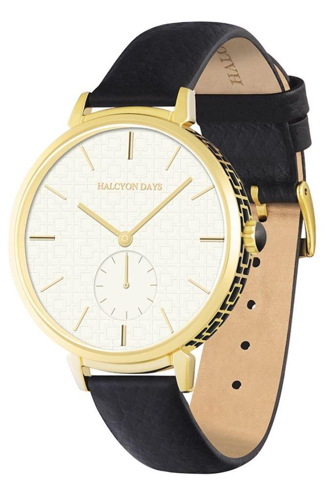 13000202de0 Halcyon Days Maya Sport Watch - Black/Gold