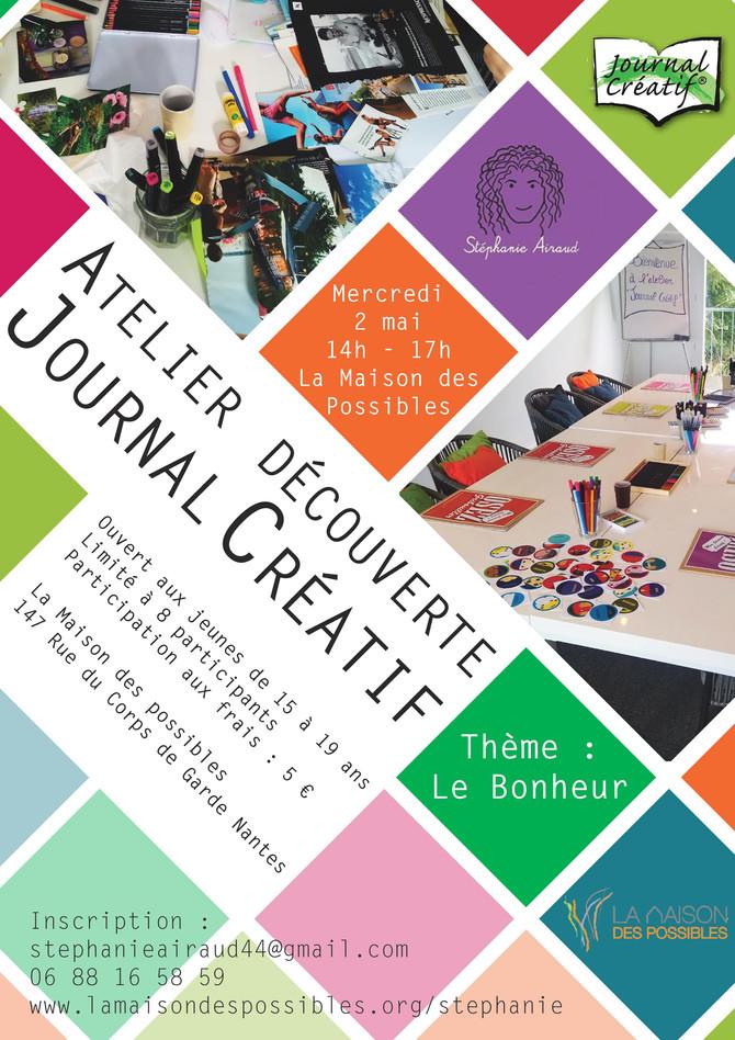 ATELIER JOURNAL CREATIF pour les 15/19 ANS
