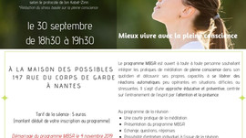 Séance d'introduction au programme MBSR