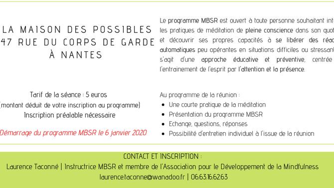Séance d'information au programme MBSR *