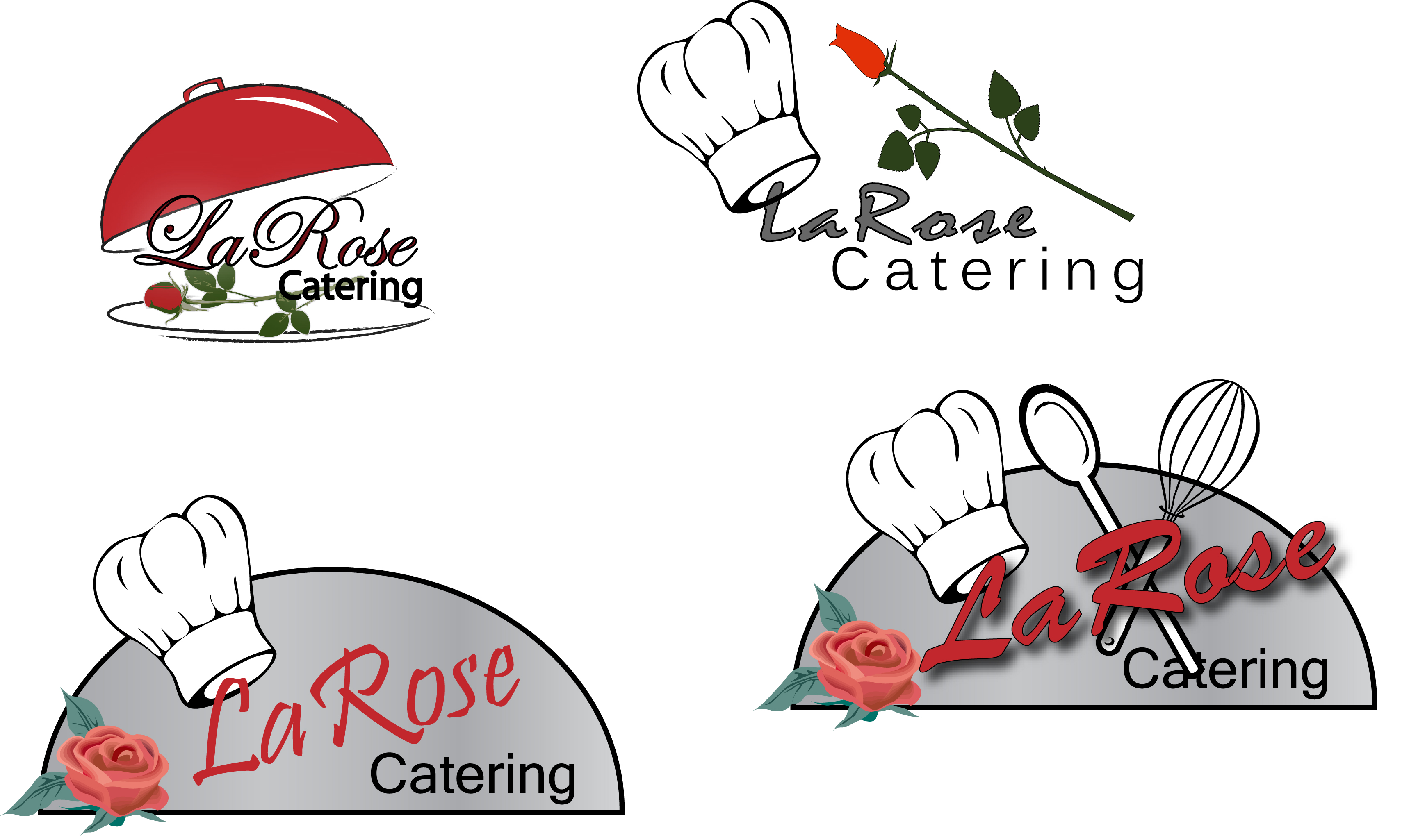 LaRosa Catering Logo Options