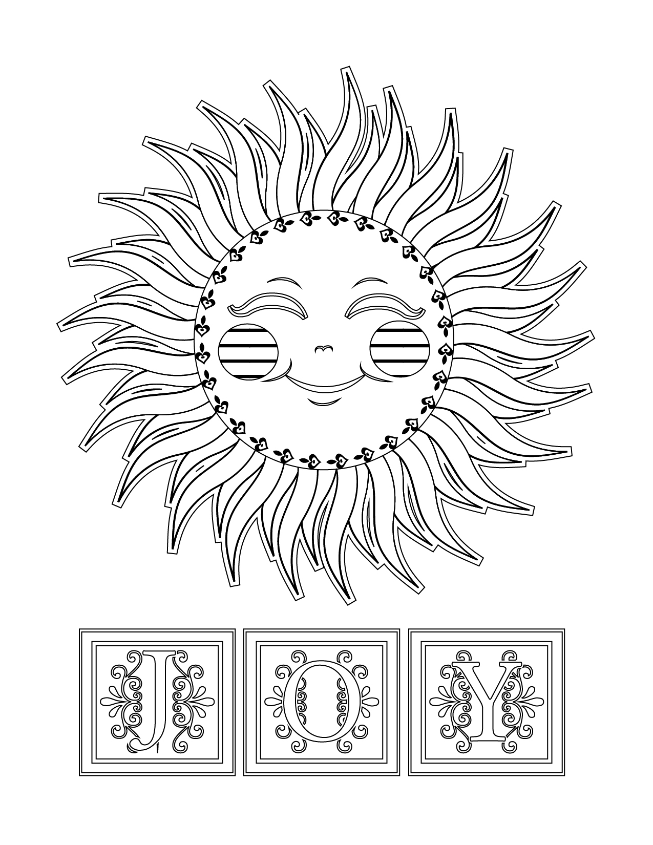 Sun Joy Illustration