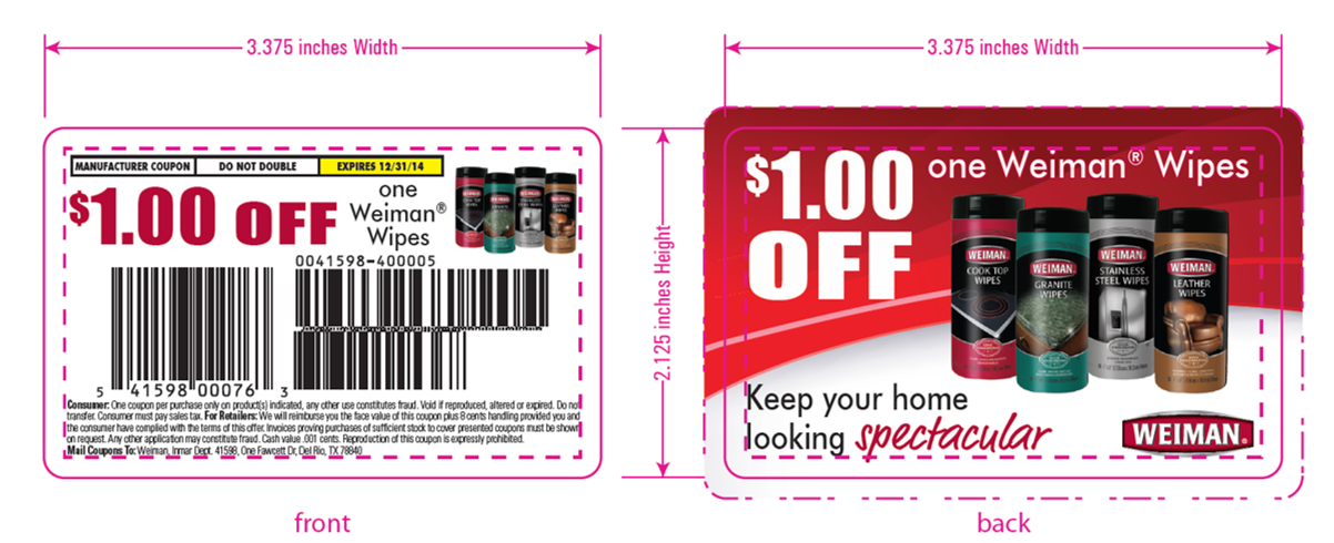 Weiman Coupon Card