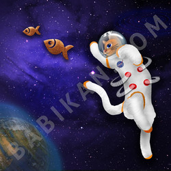 Quirky Catstronaut