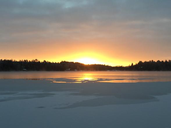 sunrise at Ross' Camp