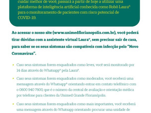 Unimed GF -  Assistente virtual Robô Laura