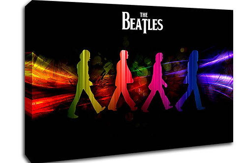 'Beatles Colourful' Heated Canvas