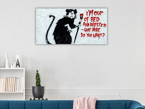 'Banksy Rat' Heated Canvas