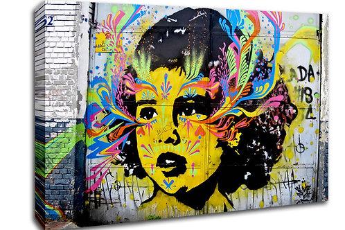 'Banksy Child' Heated Canvas