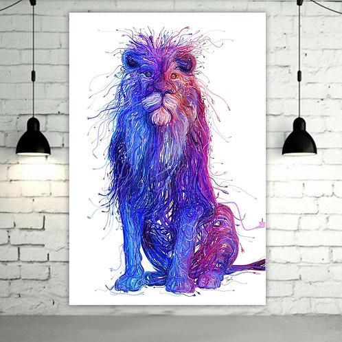 'Lion Plugs ' Heated Canvas