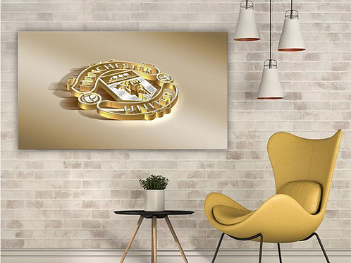 'MUFC Gold Badge' Heated Canvas