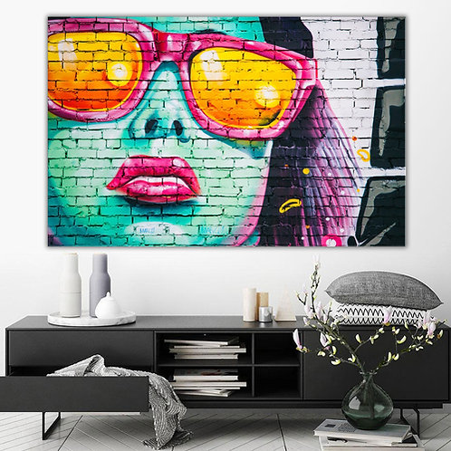 'Abstract Woman' Heated Canvas