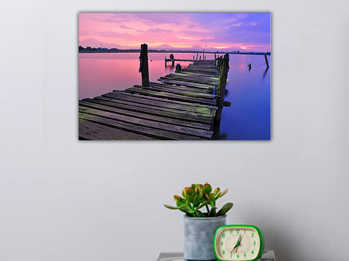'Sunset Pier' Heated Canvas