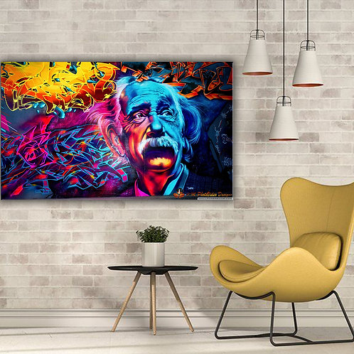 'Abstract Einstein' Heated Canvas