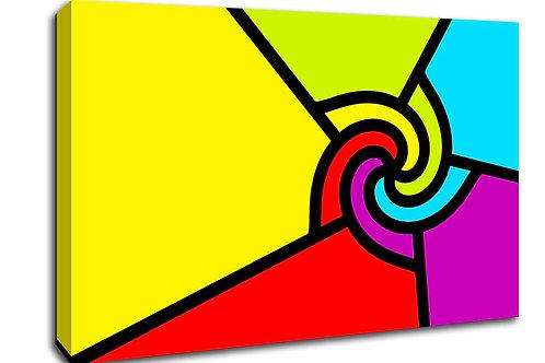 'Colour Swirl ' Heated Canvas