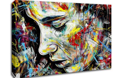 'Sad Woman ' Heated Canvas