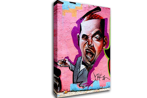 'Pinky Brain ' Heated Canvas