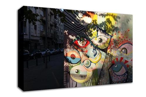 'Shadow Eyes ' Heated Canvas