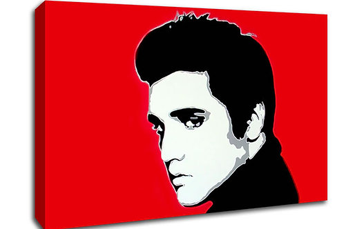 'Red Elvis ' Heated Canvas