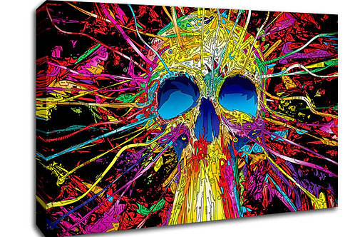'Colour skull' Heated Canvas