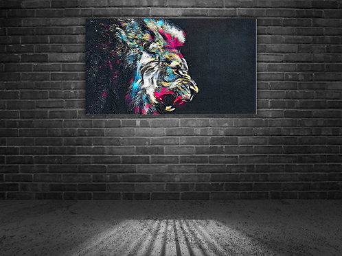 'Roaring Lion' Heated Canvas